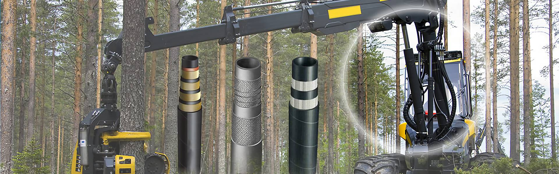 Abrasion-resistance and high impulse fatigue hydraulic hose used in forestry machinery
