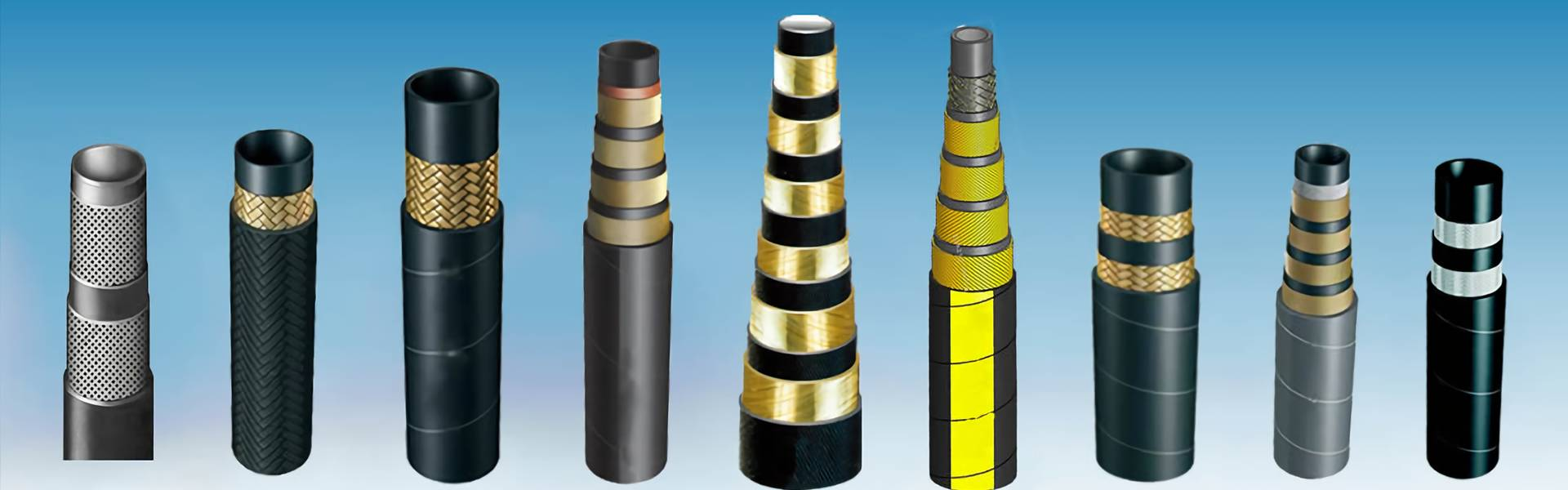Hydraulic Hose - Spiral and Braided, Low to Super High Pressure